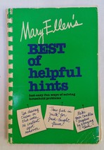 Mary Ellen's Best of Helpful Hints by Mary Ellen Pinkham 1979 Spiral Bou... - $24.74