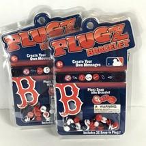 Lot 2 Boston Red Sox Friendship Bracelets Plugz MLB Create Beads Basebal... - $15.98