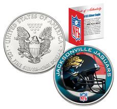 JACKSONVILLE JAGUARS 1 Oz American Silver Eagle $1 Coin Colorized NFL LI... - $49.45
