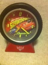 DISNEY PIXAR CARS--BATTERY CLOCK--WITH ALARM--1) AA---FREE SHIP--VGC - $14.48