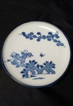 """Asian Plate 6.25"""" Blue & White Ceramic Butterfly, Children Chinese Tree ... - $21.28"""