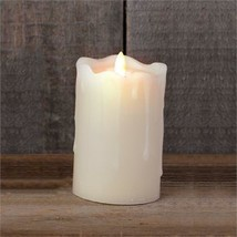 Ivory Led pillar Candle - Battery operated with Timer - £18.17 GBP