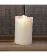 Ivory Led pillar Candle - Battery operated with Timer - $24.99