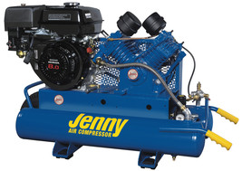 Jenny 9Hp 8 Gallon 1 Stage Truck Mount Gas Powered Air Compressor 15CFM G9HGA-8P - $2,250.00