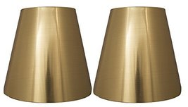 Urbanest Set of 2 Metallic Hardback Chandelier Lamp Shade, 3-inch by 5-inch by 4 - $15.83