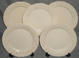Set (5) Metlox ANTIQUE GRAPE PATTERN Dinner Plates MADE IN CALIFORNIA - $89.09