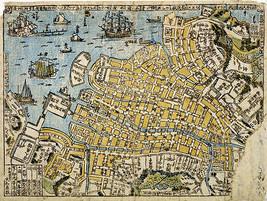1801 Karte von Nagasaki Hafen Bereich Vintage Japanisch Kunstwerk Druck - $12.86