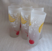 Set of 8 Frosted Ice Tea Glasses - $75.00
