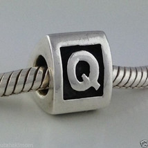Authentic Pandora Sterling Silver Letter Q Bead Charm 790323q New - $27.54