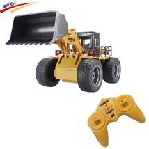 Rc Truck 6ch 4wd Wheel Metal Remote Control Bulldozer Construction Vehic... - $76.63