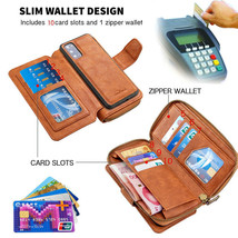 For iPhone 11 12Pro Max X XR 6 7 8+ Wallet Leather Flip Magnetic back Ca... - $101.02