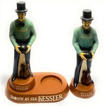 Kessler Whiskey Bowling Bowler Pair Advertising Display Statues Ashtray ... - $197.99