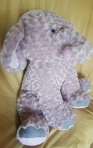 "jumbo plush stuffed elephant purple swirls 27"" polka dots SOFT  - $59.39"