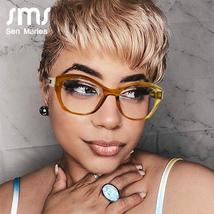 Vintage Cat Eye Glasses Frames Women Men Luxury Brand Fashion Optical Clear Lens image 3