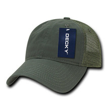 Relaxed Trucker Cap - Olive, Cotton Trucker Hat (Decky 120-OLV, New with... - £5.40 GBP