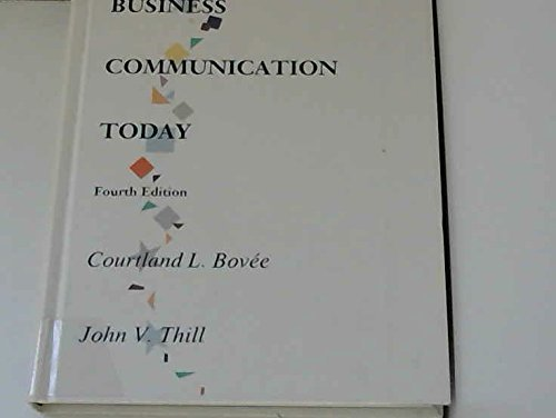 Primary image for Business Communication Today Bovee, Courtland L. and Thill, John V.