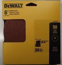"""Dewalt DWAS60050 6"""" 50 Grit Sanding Discs No Hole Stick-on 20pk - $4.46"""