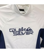 Quicksilver Men's Compression Shirt Surf Uv Tech Short Sleeve Size M White - $19.79