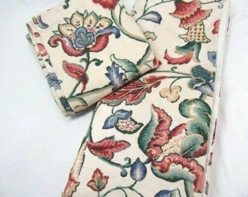 Primary image for Waverly Deerfield Jacobean Floral Linen 2-PC 152 x 68 Lined Drapery Panels