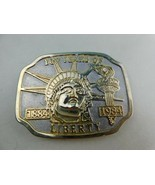 Belt Buckle 100 Years Of Liberty Lady Statue Head Torch 1884-1984 VTG - $14.84