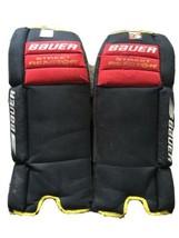"""Bauer Street Reactor Hockey Goalie Leg Knee Calves Foot Pads Belfour 24""""... - $24.74"""