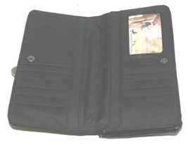 Montana West Collection MW689G 918 Medium Leather Like Black Conceal Carry Purse image 5