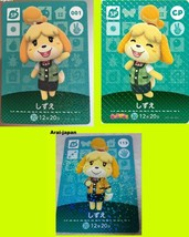 amiibo card Shizue Isabelle x3P Volume1 Vol.2 second CP Japan animal  Happy - $86.11