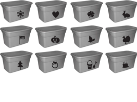 Storage Bin Decal, Holiday Storage Label, Large Storage Tote Decal Organization, - $6.99+