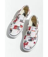 NEW IN BOX Vans Shoes Slip On Packing Tape Print MENS 8 WOMENS 9.5 - $65.34