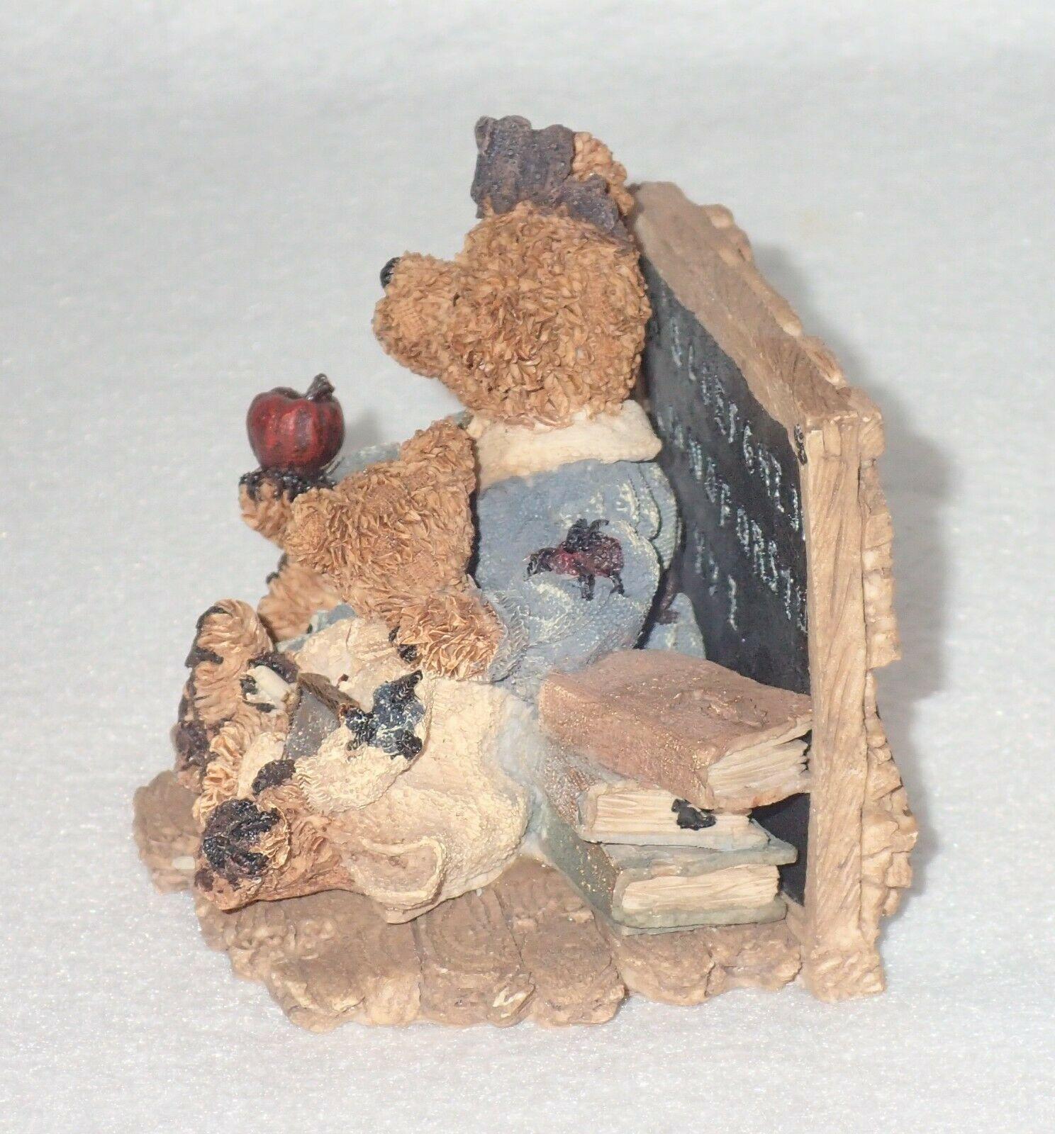 Boyd Bearstone Resin Bears Miss Bruin & Bailey The Lesson Figurine #2259 17E image 2