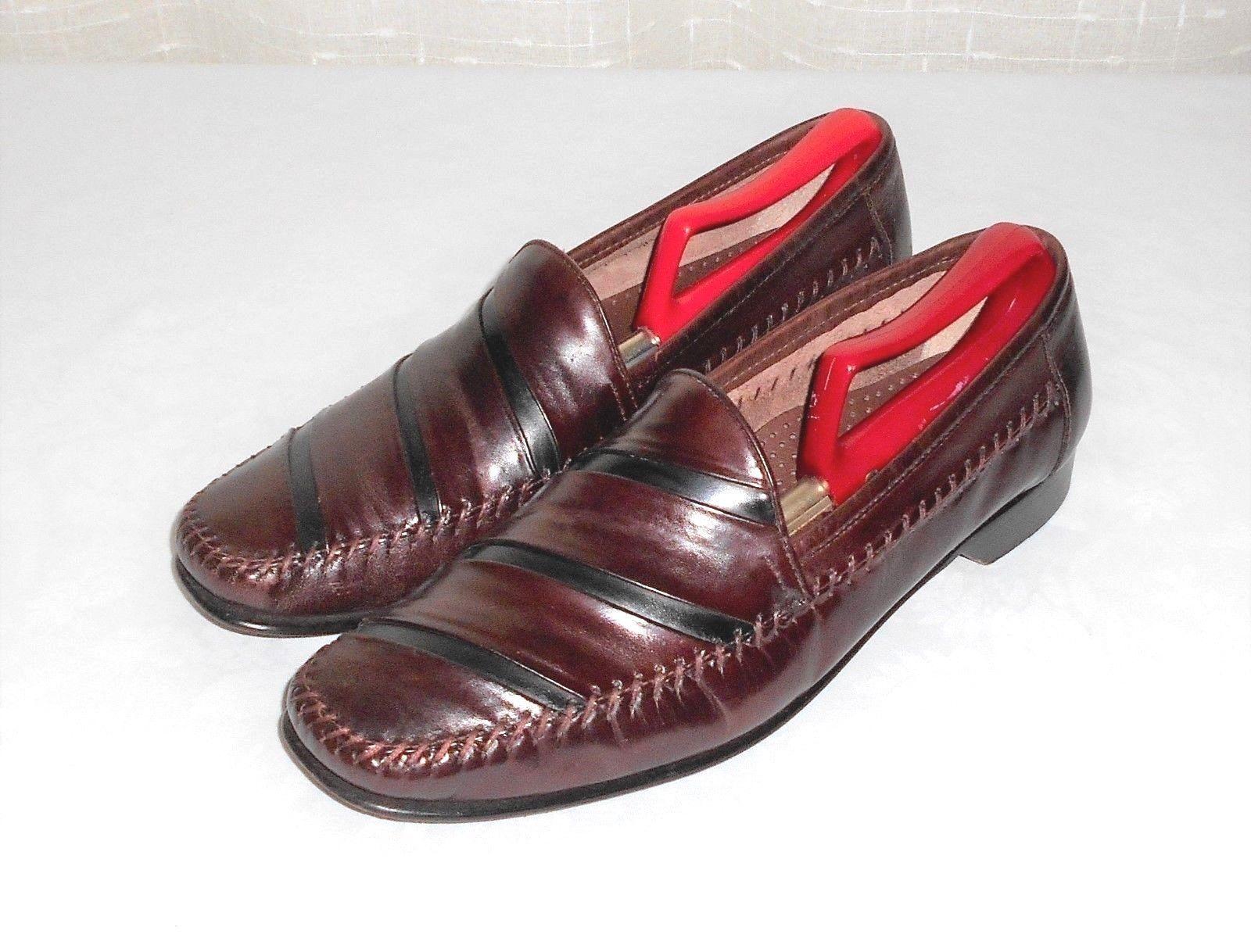 Giorgio Brutini Men's Size  11D Le Glove Black Leather Slip-On Loafer Shoes