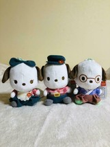 Pochacco Cafe TSUBAKI Mascot 3 Set Plush Doll Pochami 12cm Sanrio Prize ... - $47.87