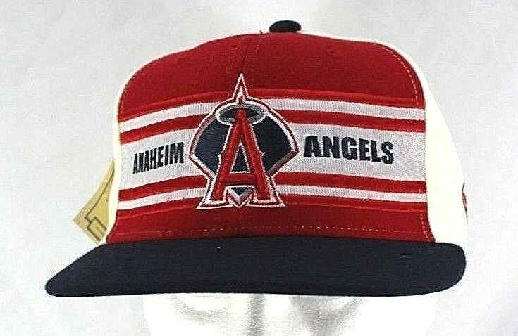 Los Angeles Anaheim Angels Red/Black/White Baseball Cap Fitted 7 3/8  - £20.06 GBP