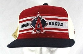 Los Angeles Anaheim Angels Red/Black/White Baseball Cap Fitted 7 3/8  - £19.75 GBP