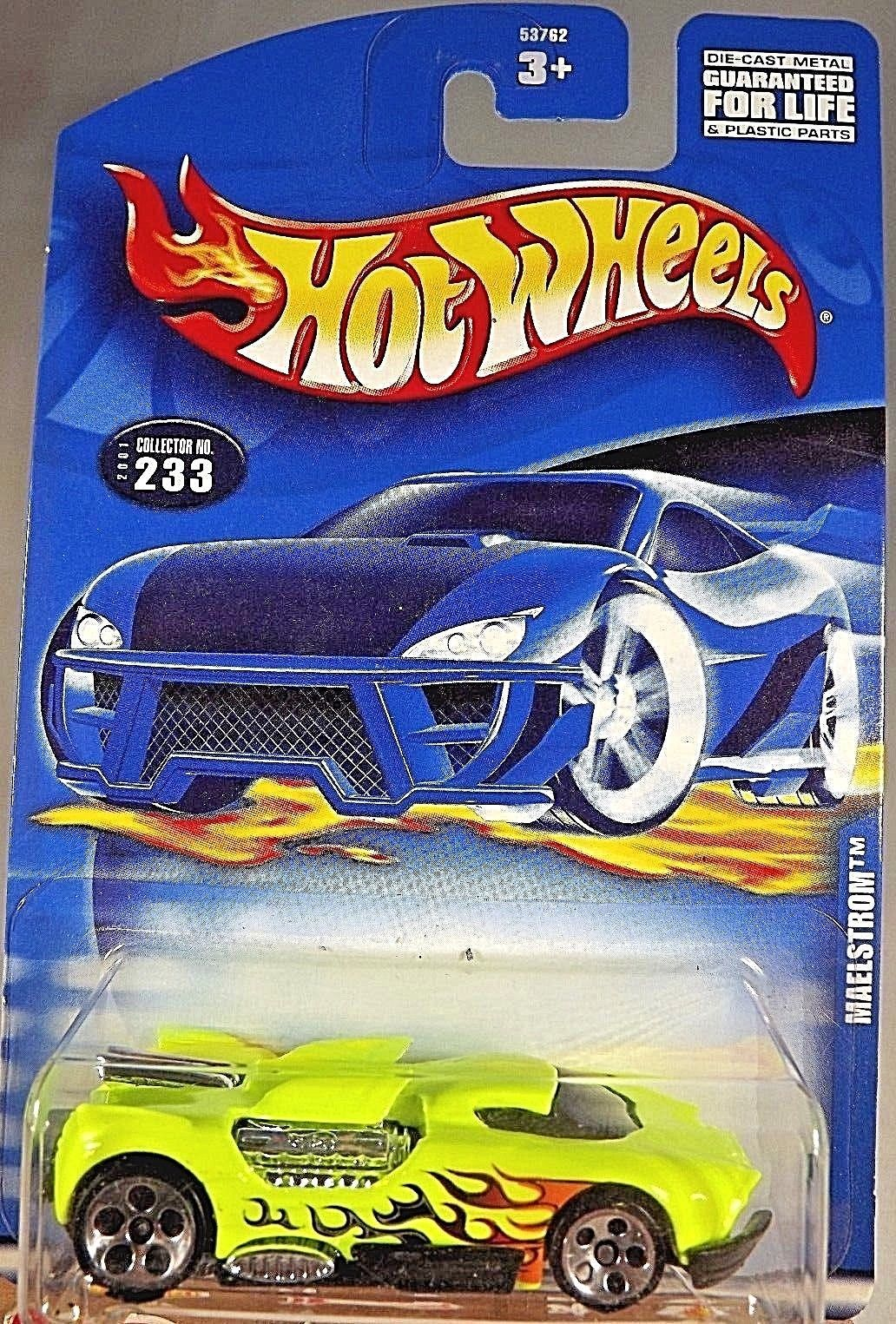 Primary image for 2001 Hot Wheels Collector No #233 MAELSTROM Lime w/5 Hole Spoke - Malaysia Base
