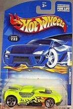 2001 Hot Wheels Collector No #233 MAELSTROM Lime w/5 Hole Spoke - Malaysia Base - $6.20