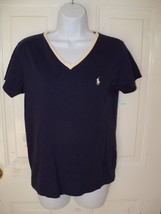 Ralph Lauren Sport Navy Blue Shirt Size Medium  Women's EUC - $18.63