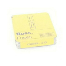 LOT OF 6 NEW COOPER BUSSMANN GBB-10 FUSES 10AMP CERAMIC FAST ACTING 250VAC