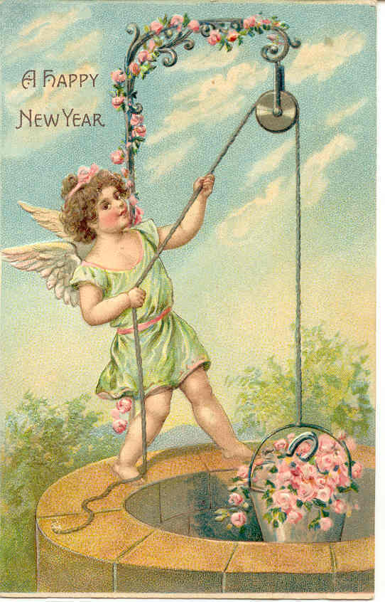 Primary image for  Happy New Year Vintage German Post Card
