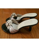 Franco Sarto Flower Slip On Heels Leather Upper - Size 6 - $22.99