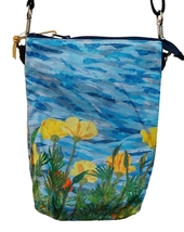 California Poppies - 3 Pocket Zippered Crossbody Bag