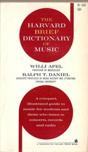 The Harvard Brief Dictionary of Music [Mass Market Paperback] Willi Apel... - $1.99