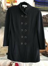 St. John Collection Black Long Jacket Sz 10 $1290 - $354.82