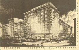 Bullock's Broadway, Hill and Seventh, Los Angeles, California, unused Postcard  - $5.99
