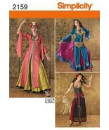 Simplicity 2159 Misses' Arabian Belly Dancer Dress Costume Pattern 14-22 - $12.99