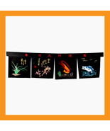 Sushi shop curtain Noren tapestry Japanese restaurant bar doorway symbol... - $30.00