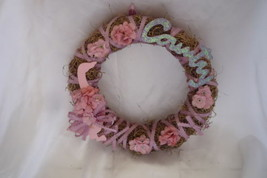 Country Mauve n Pink Handmade Wreath - $3.99