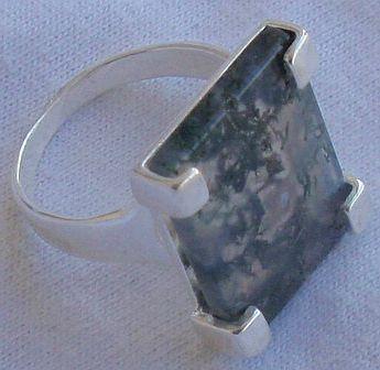 Malaya agate ring