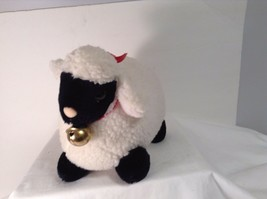 "Mary Meyer Plush Fluffy Lamb Sheep WHite & Black 14"" Lgth 8.25"" tall CUTE - $16.87"