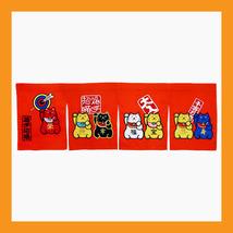 cat sushi curtains Noren shop tapestry Japanese restaurant doorway orange - 05 - $19.50